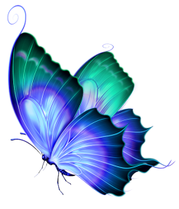 Transparent_Blue_and_Green_Deco_Butterfly_PNG_Clipart